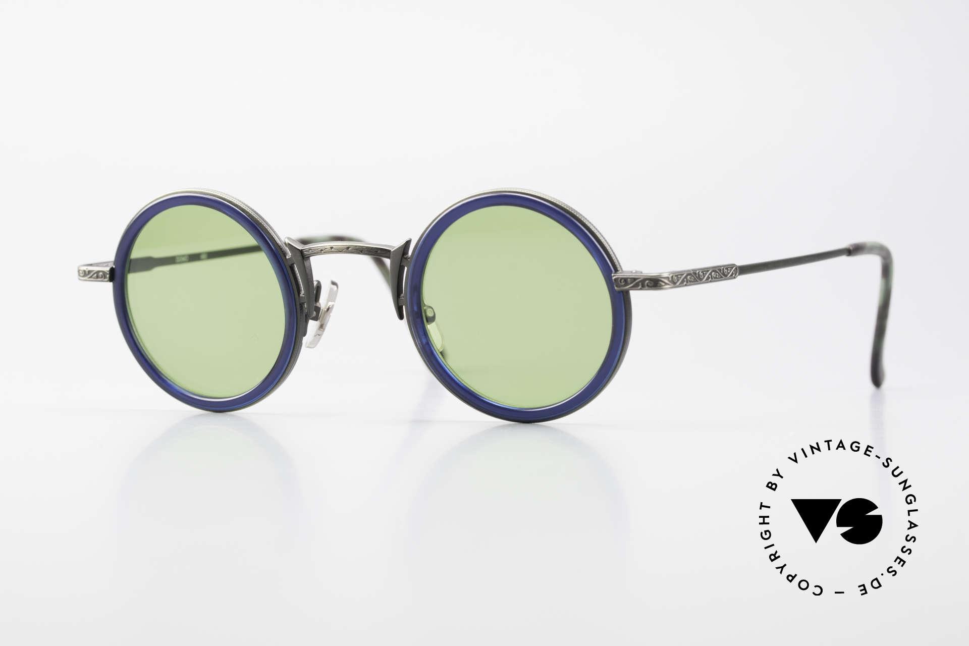 Freudenhaus Domo Runde Designer Sonnenbrille, vintage Sonnenbrille von FREUDENHAUS, München, Passend für Herren