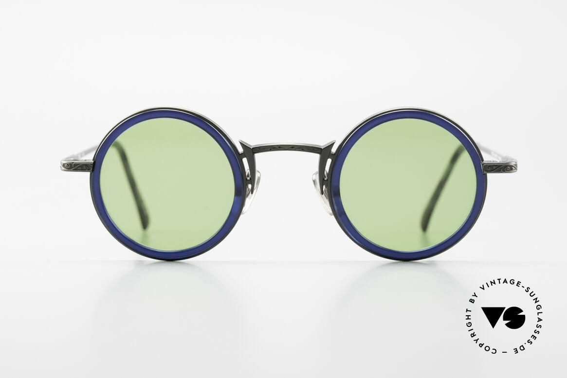 Freudenhaus Domo Runde Designer Sonnenbrille, exzellente Materialkombination (Kunststoff & Titan), Passend für Herren