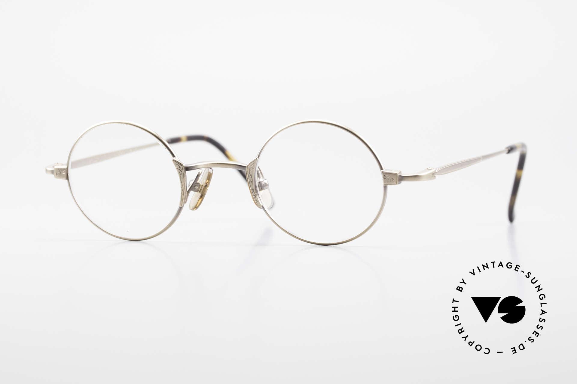 Freudenhaus Tori Kleine Runde Designer Brille, vintage Brillenfassung von FREUDENHAUS, München, Passend für Herren und Damen
