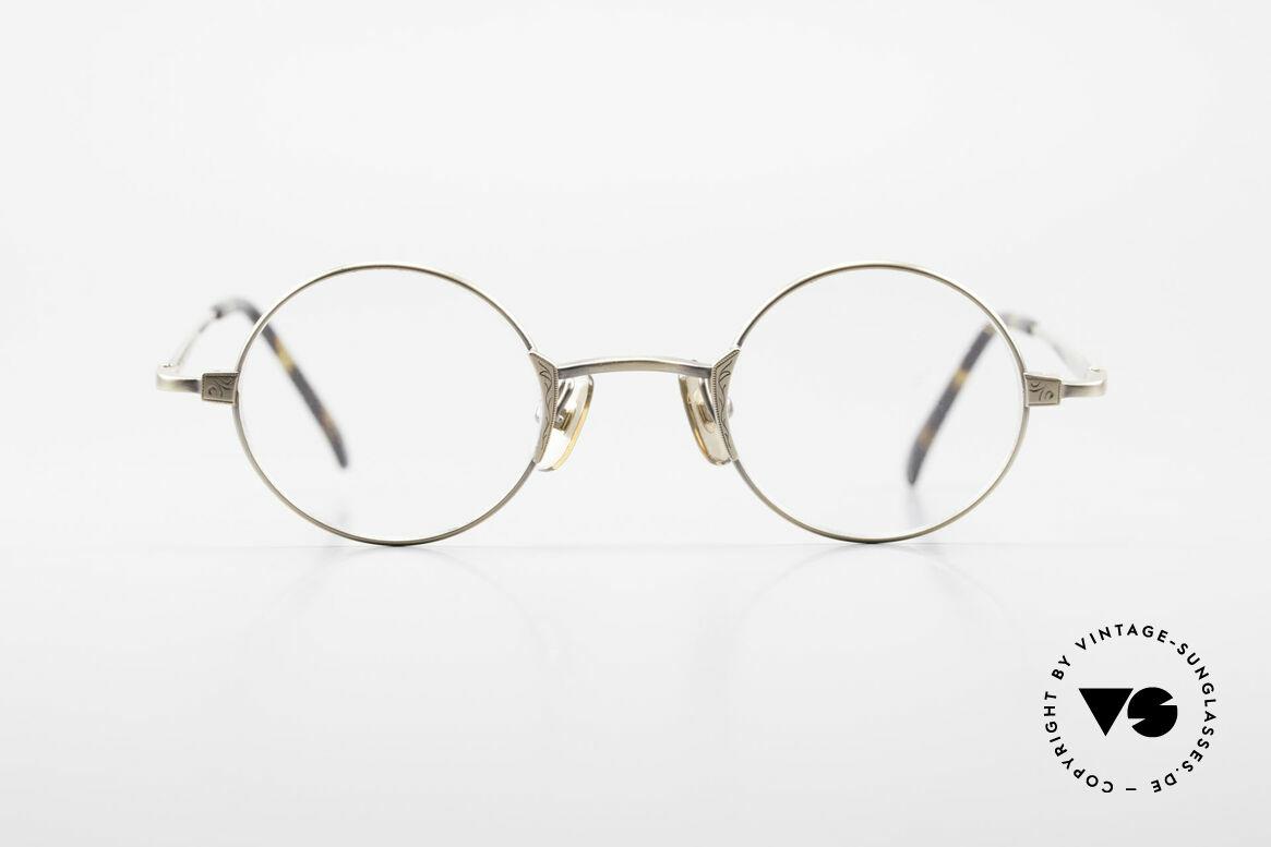 Freudenhaus Tori Kleine Runde Designer Brille, exzellent gemachter Metall-Rahmen; made in Japan, Passend für Herren und Damen