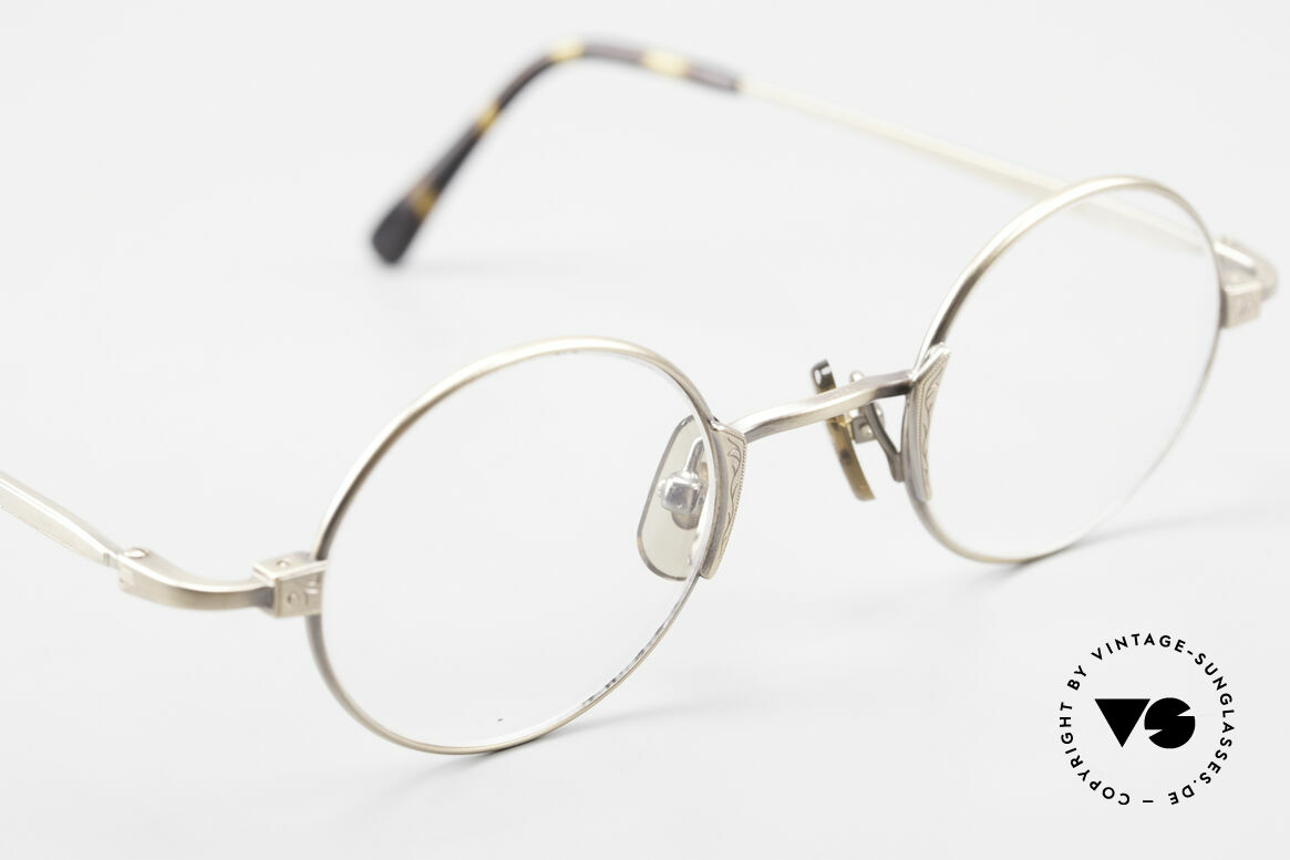 Freudenhaus Tori Kleine Runde Designer Brille, KEINE Retromode, ein kostbares 90er Jahre Original!, Passend für Herren und Damen