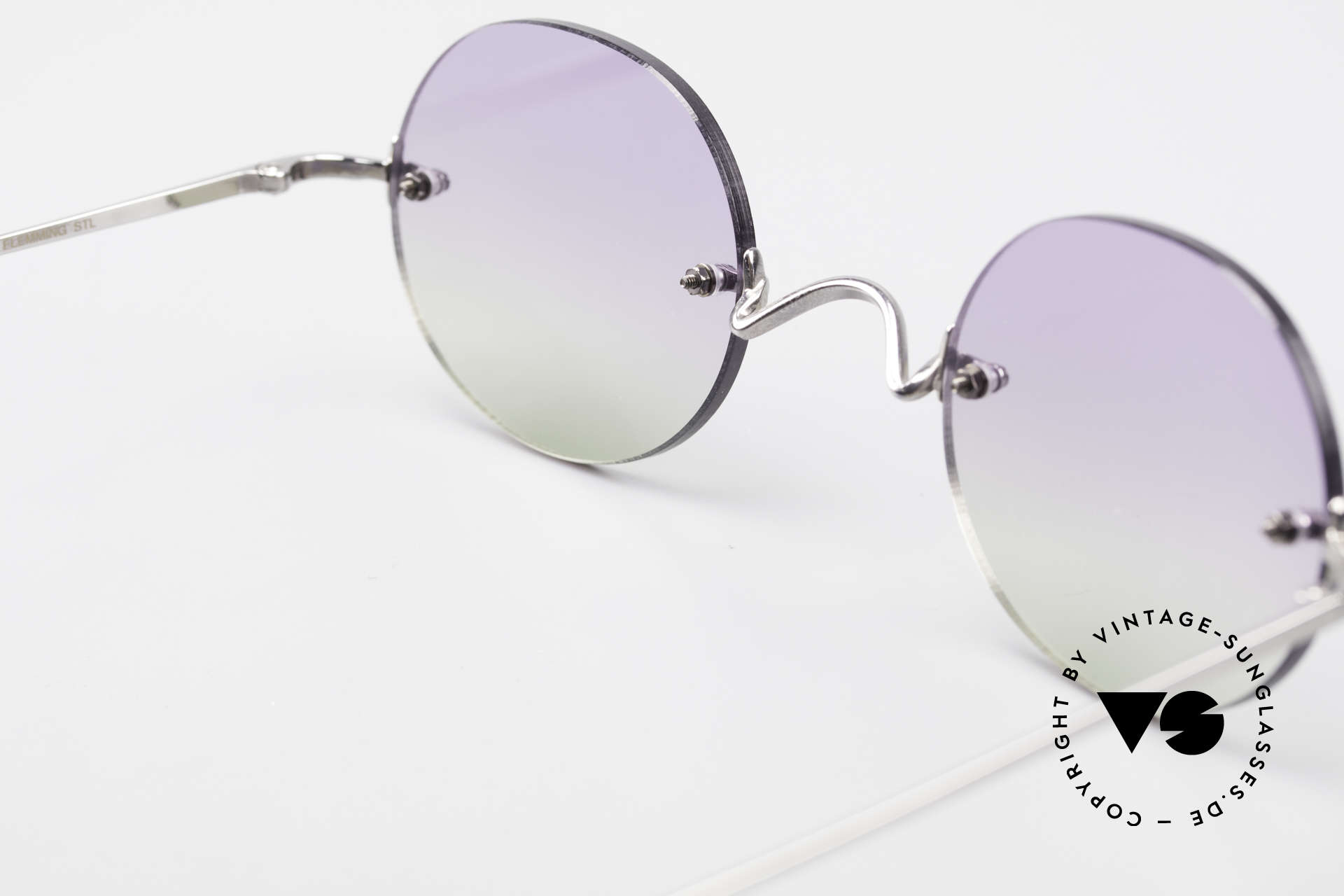 Freudenhaus Flemming Runde Sonnenbrille Randlos, sehr schönes Accessoire; durchaus auch abends tragbar, Passend für Herren und Damen