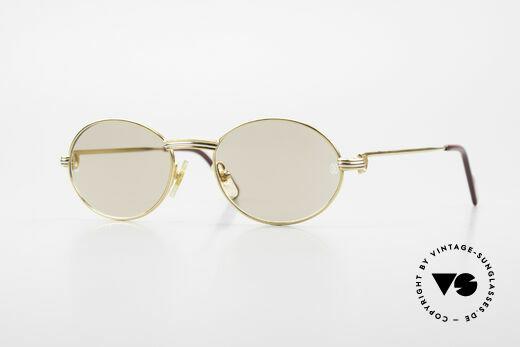 Cartier Saint Honore Kleine Ovale Sonnenbrille 90er Details