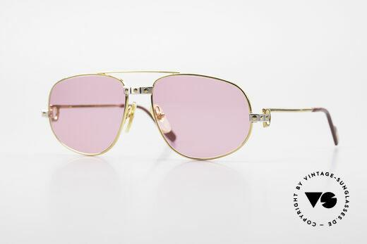 Cartier Romance Santos - S Pinke Sonnenbrille Chanel Etui Details