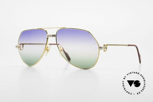 Cartier Vendome Santos - M Rare Luxus Sonnenbrille 80er Details