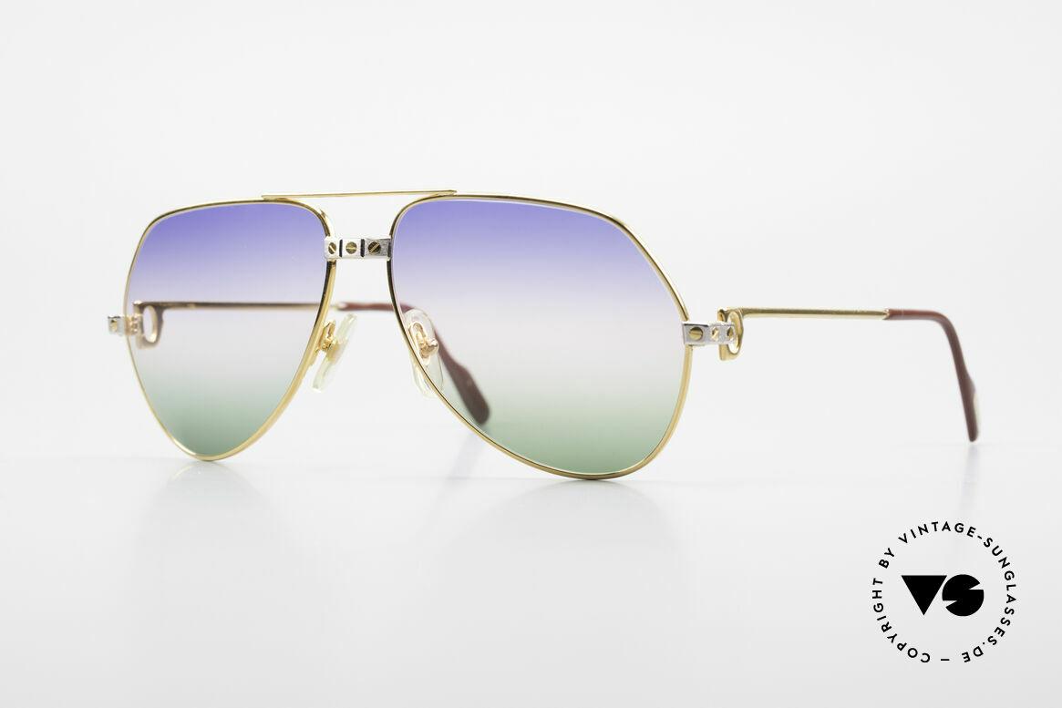 Cartier Vendome Santos - M Rare Vintage Brille 80er Luxus, Vendome = das berühmteste Brillendesign von CARTIER, Passend für Herren und Damen