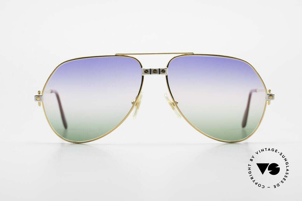 Cartier Vendome Santos - M Rare Vintage Brille 80er Luxus, wurde 1983 veröffentlicht und dann bis 1997 produziert, Passend für Herren und Damen