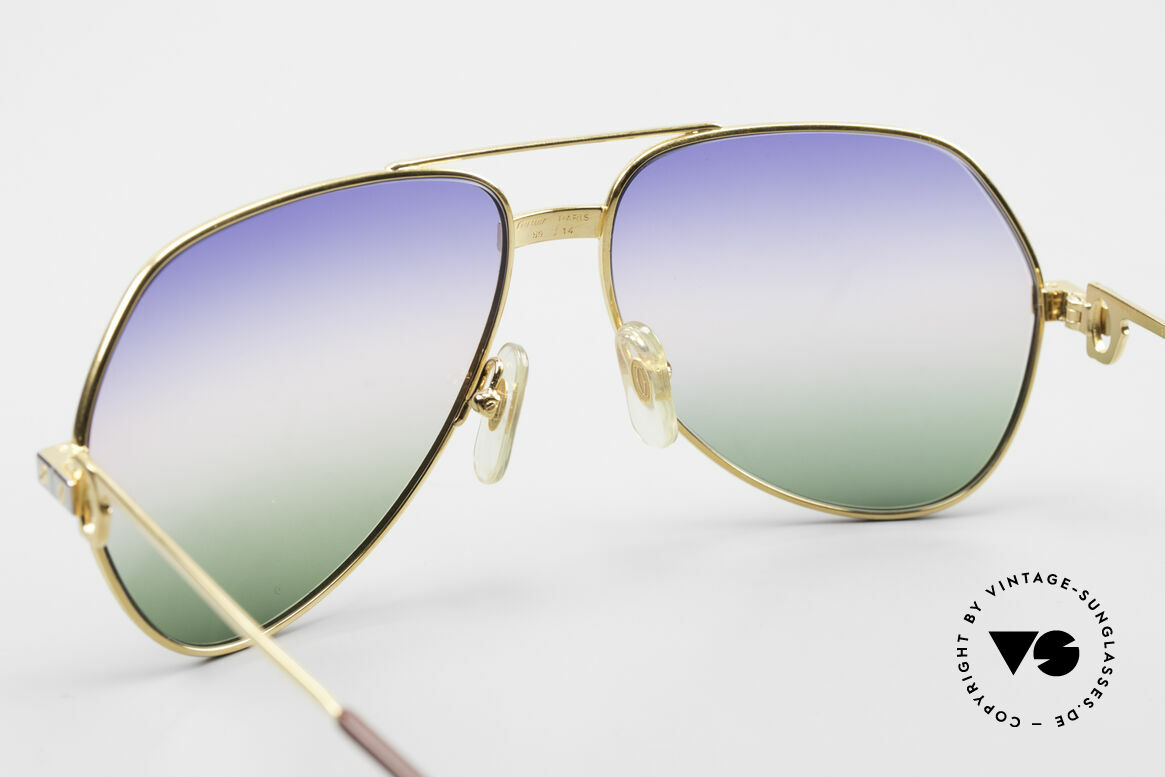 Cartier Vendome Santos - M Rare Luxus Sonnenbrille 80er