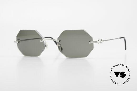 Cartier C-Decor Octag Achteckige Luxus Sonnenbrille Details