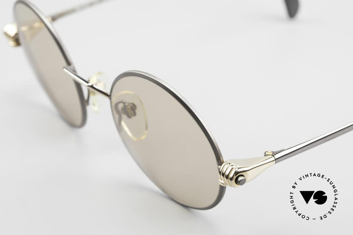 Silhouette M7112 Die Brille mit den Händen, M7112 ist die runde Ausführung in M Größe 49/20, Passend für Herren und Damen
