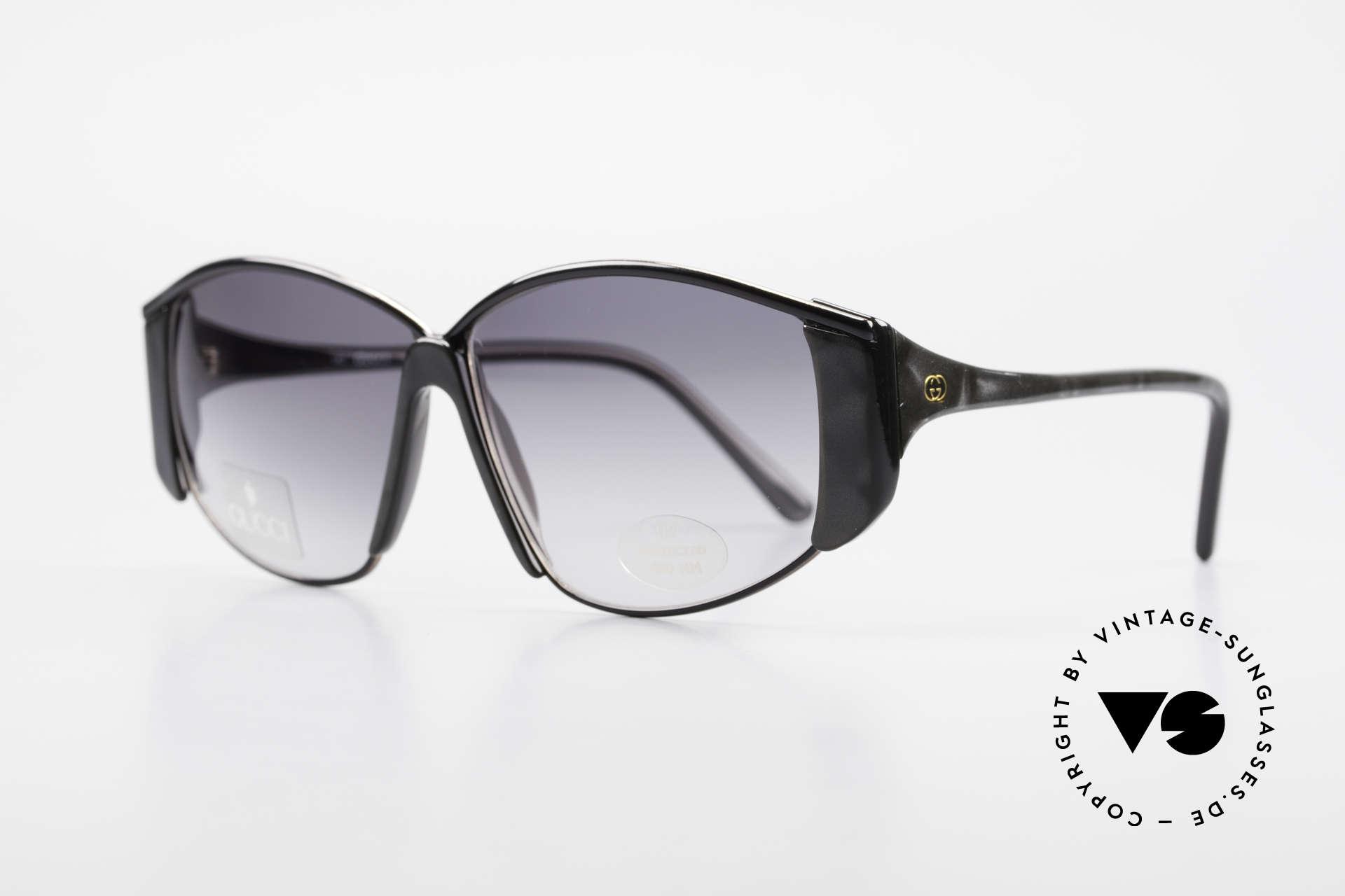 Gucci 2308 80er Damen Vintage XL Brille, sehr eigenständiges Rahmendesign in Top-Qualität, Passend für Damen