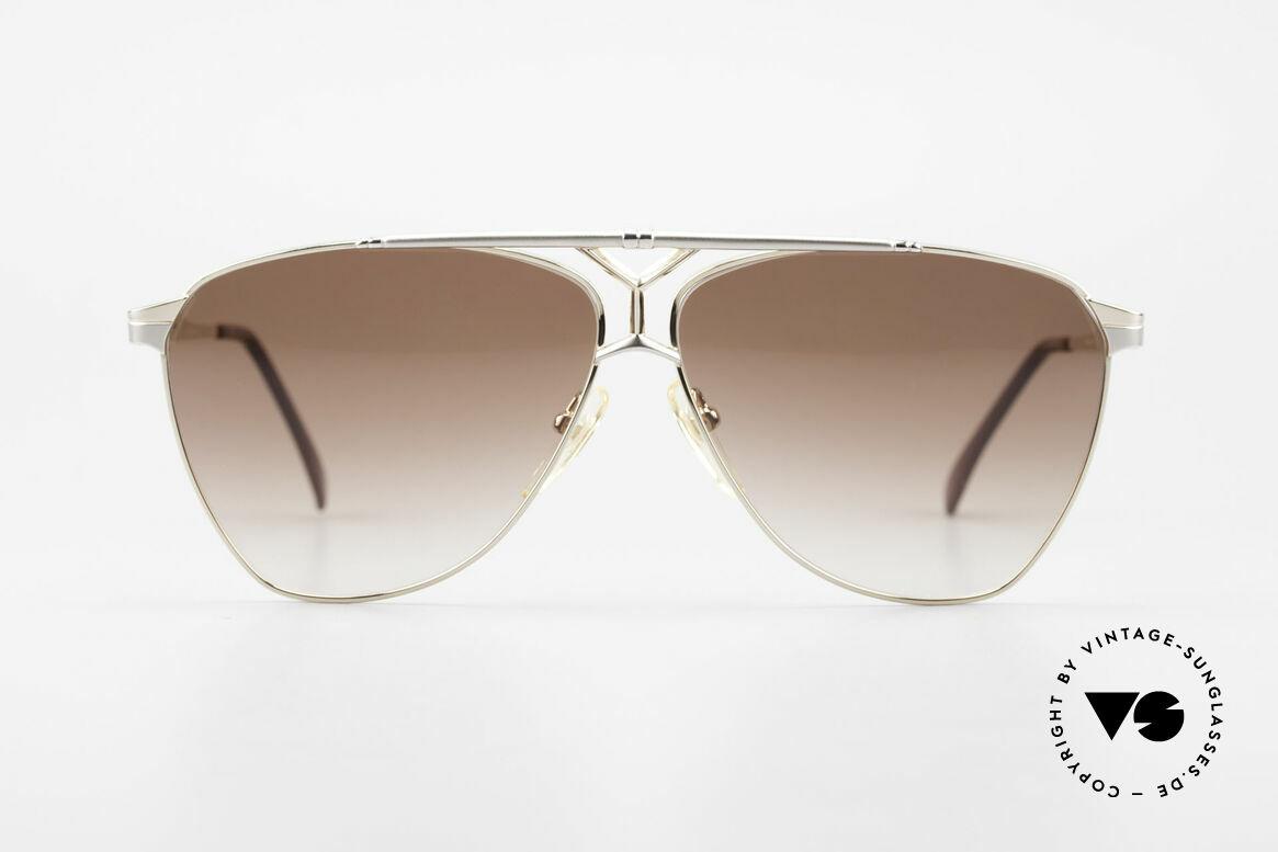 Yves Saint Laurent 8808 80er YSL Aviator Sonnenbrille, edel: vergoldete Komponenten & Titan-Elemente, Passend für Herren