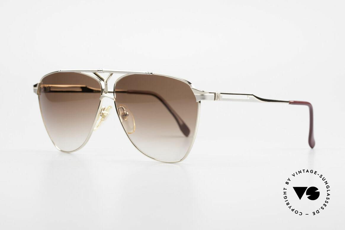 Yves Saint Laurent 8808 80er YSL Aviator Sonnenbrille, Luxus-Alternative zur klassischen Piloten-Brille, Passend für Herren