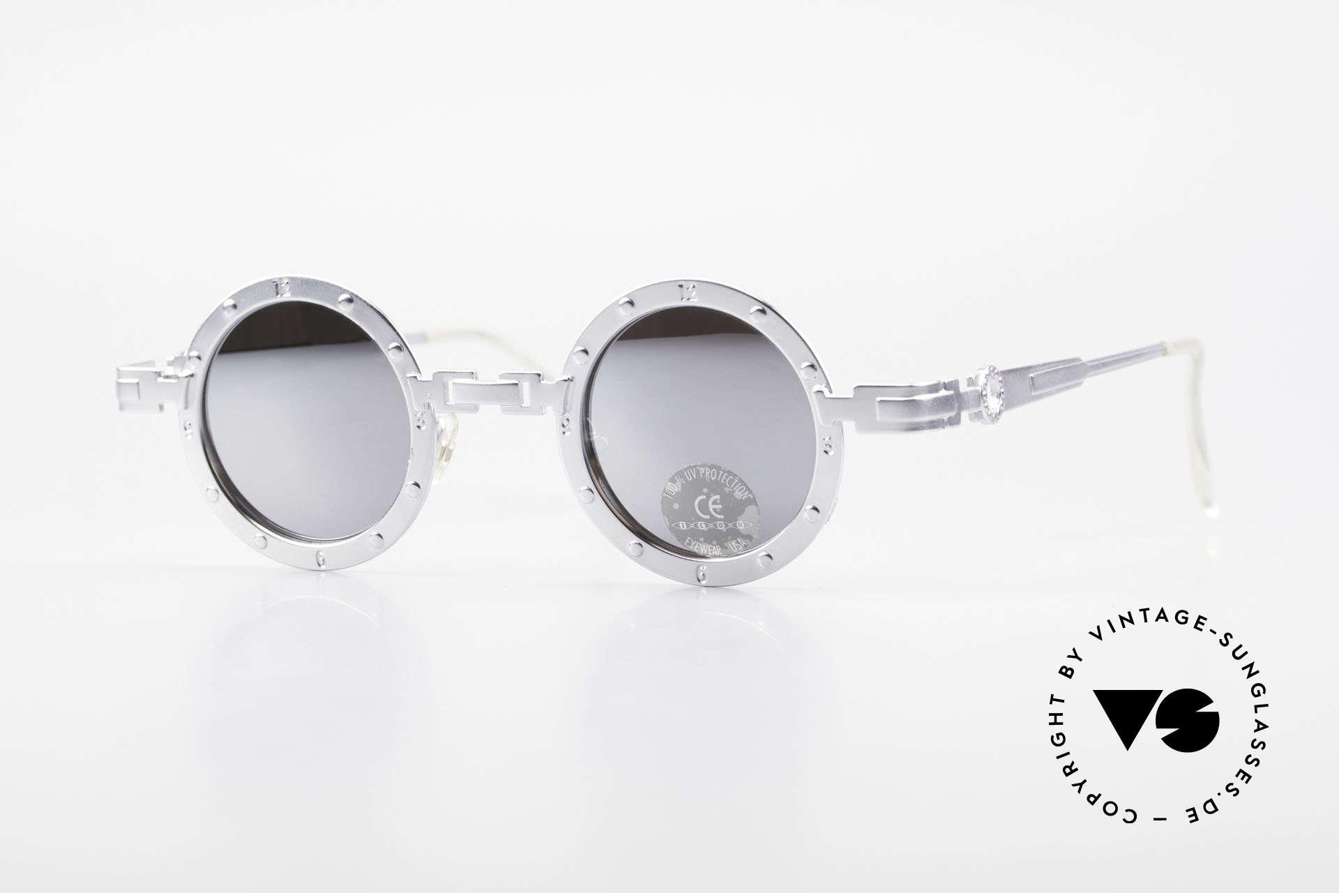 Koure Icon 2266 Verspiegelte Steampunk Brille, vintage KOURE Sonnenbrille von 1994, Steampunk Stil, Passend für Herren und Damen