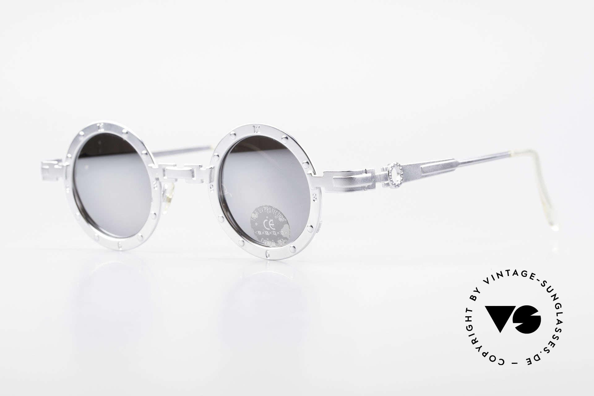 """Koure Icon 2266 Verspiegelte Steampunk Brille, viele interessante Rahmendetails im """"Retro-Futurismus"""", Passend für Herren und Damen"""