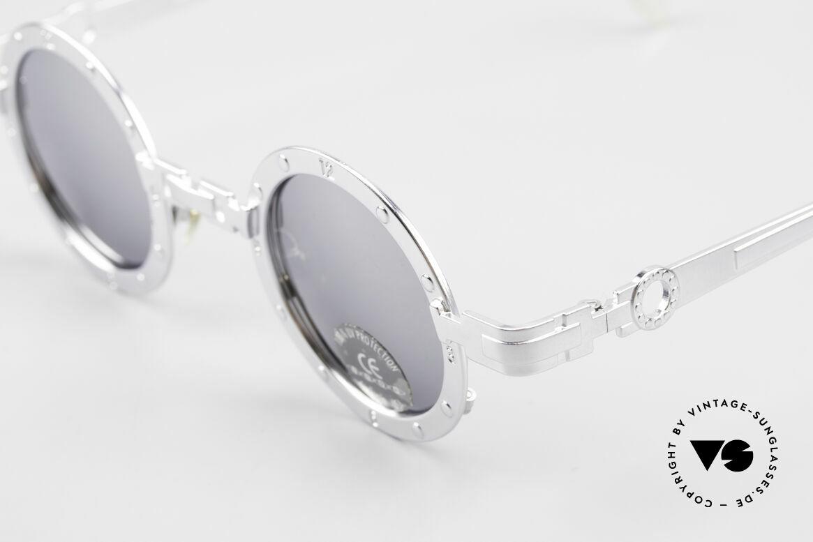 Koure Icon 2266 Verspiegelte Steampunk Brille, also einer Sicht auf die Zukunft, aus einer früheren Zeit, Passend für Herren und Damen