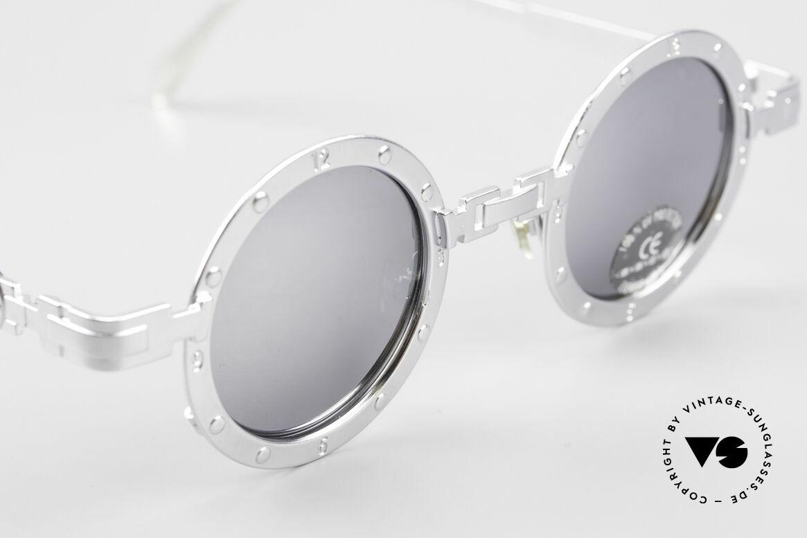 Koure Icon 2266 Verspiegelte Steampunk Brille, Spitzenqualität aller Komponenten; verspiegelte Gläser!, Passend für Herren und Damen