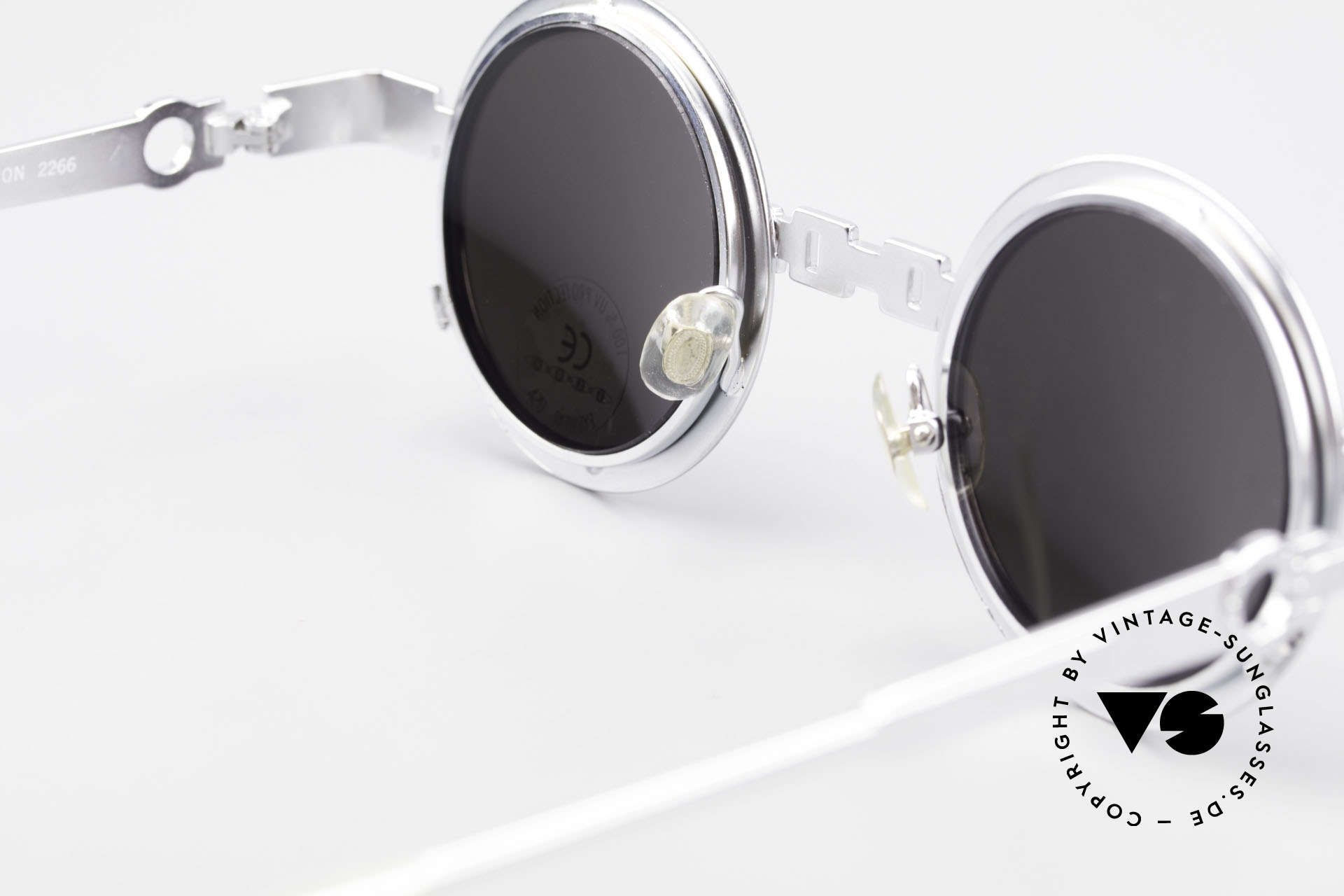 Koure Icon 2266 Verspiegelte Steampunk Brille, ungetragenes 90er Einzelstück und KEINE Reproduktion, Passend für Herren und Damen