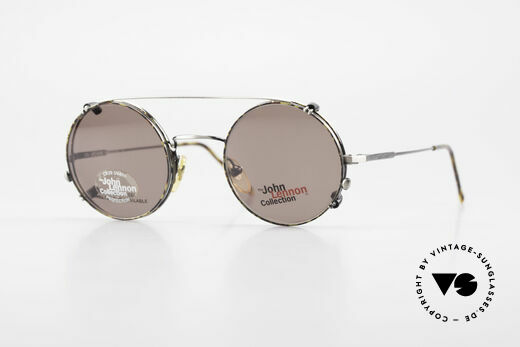 John Lennon - You Are Here Runde Brille Mit Sonnenclip Details