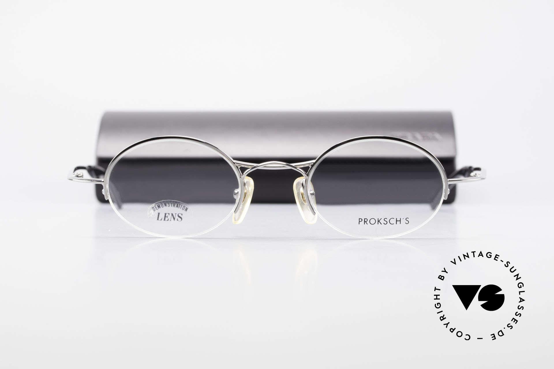 W Proksch's M35/2 Halb Randlos 90er Avantgarde, KEINE RETRObrille; ein circa 25 Jahre altes Unikat!, Passend für Herren