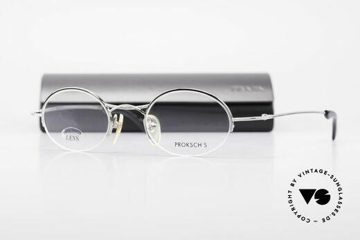 W Proksch's M35/2 Halb Randlos 90er Avantgarde, Proksch designt u.a. für Oliver Peoples & Paul Smith, Passend für Herren