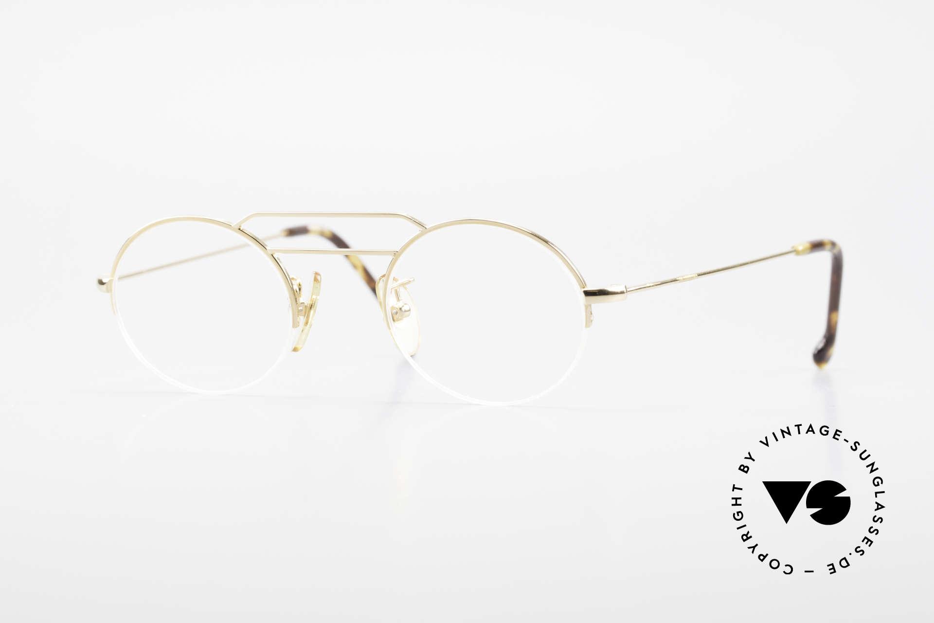 W Proksch's M5/7 90er Halb Randlos Vergoldet, vergoldete Proksch's vintage Brillenfassung von 1994, Passend für Herren und Damen