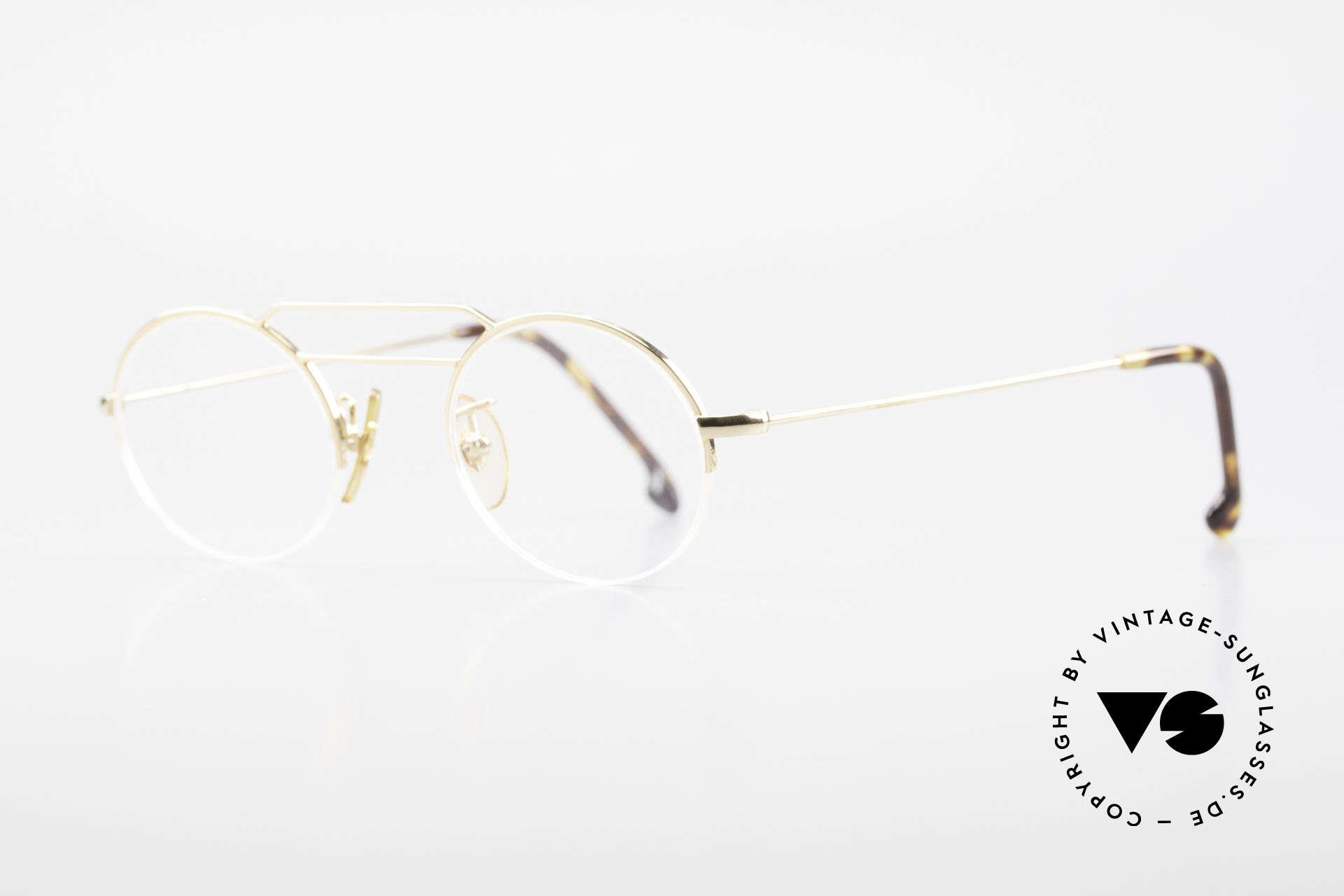 W Proksch's M5/7 90er Halb Randlos Vergoldet, schlichtes Design & japanisches Qualitäts-Streben!, Passend für Herren und Damen
