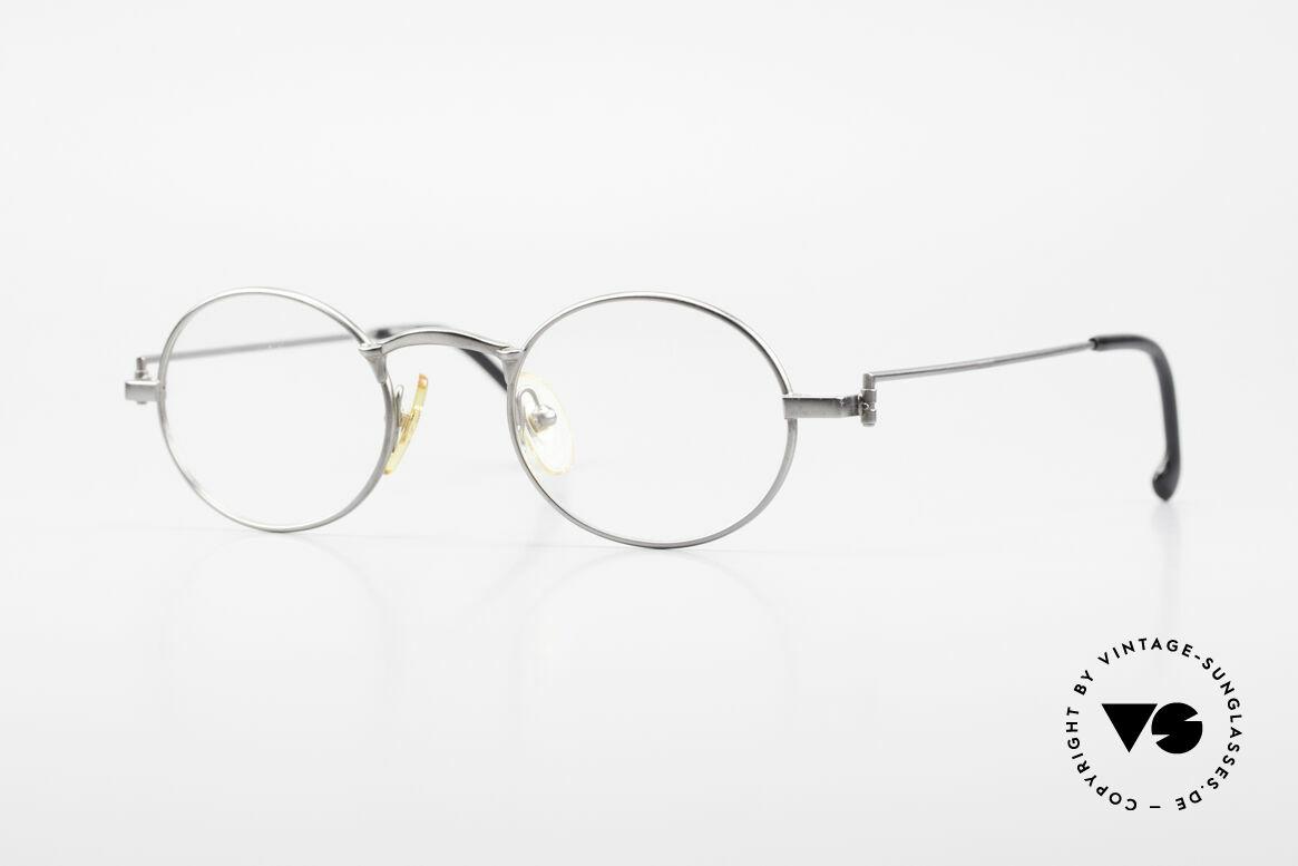 W Proksch's M31/11 Ovale Brille 90er Avantgarde, Proksch's vintage Titanium-Brillenfassung von 1993, Passend für Herren