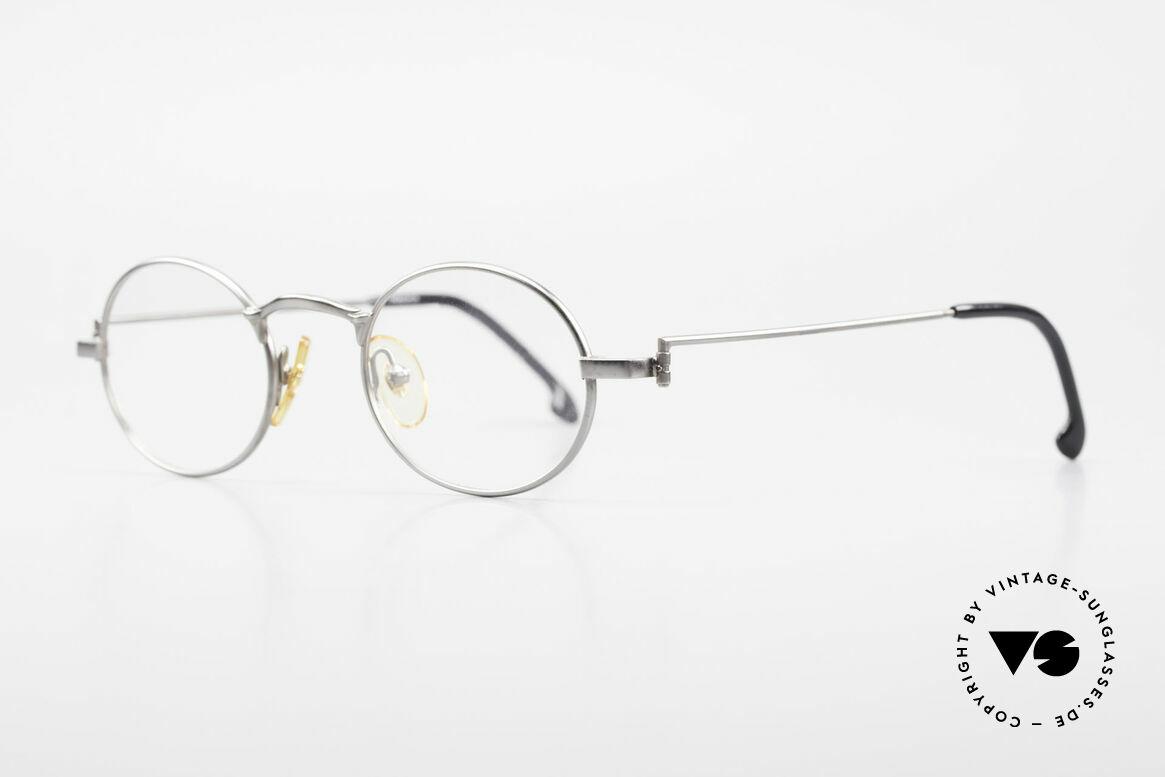 W Proksch's M31/11 Ovale Brille 90er Avantgarde, schlichtes Design & japanisches Qualitäts-Streben!, Passend für Herren