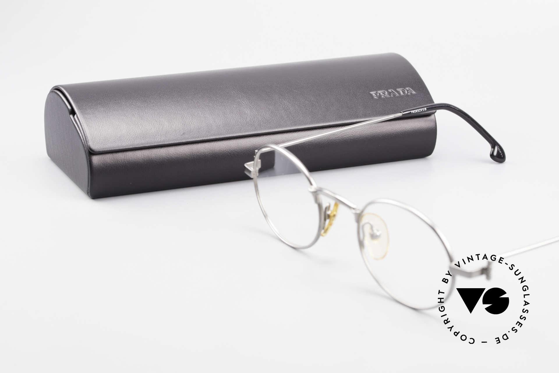 W Proksch's M31/11 Ovale Brille 90er Avantgarde, KEINE RETRObrille; ein circa 25 Jahre altes Unikat!, Passend für Herren