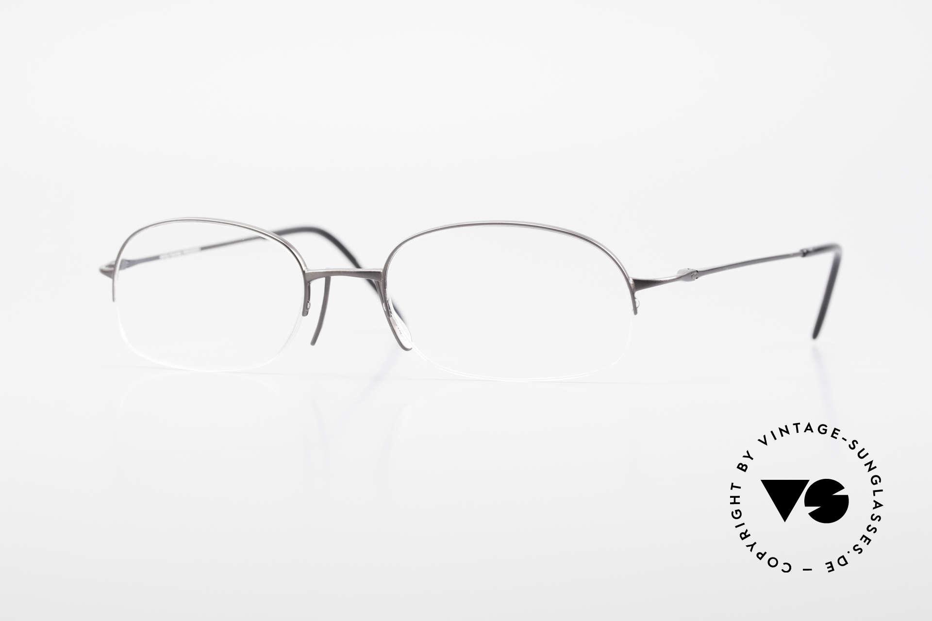 Wolfgang Proksch WP0007 Halb Randlose Titanfassung, Wolfgang Proksch vintage Brillenfassung von 1999, Passend für Herren
