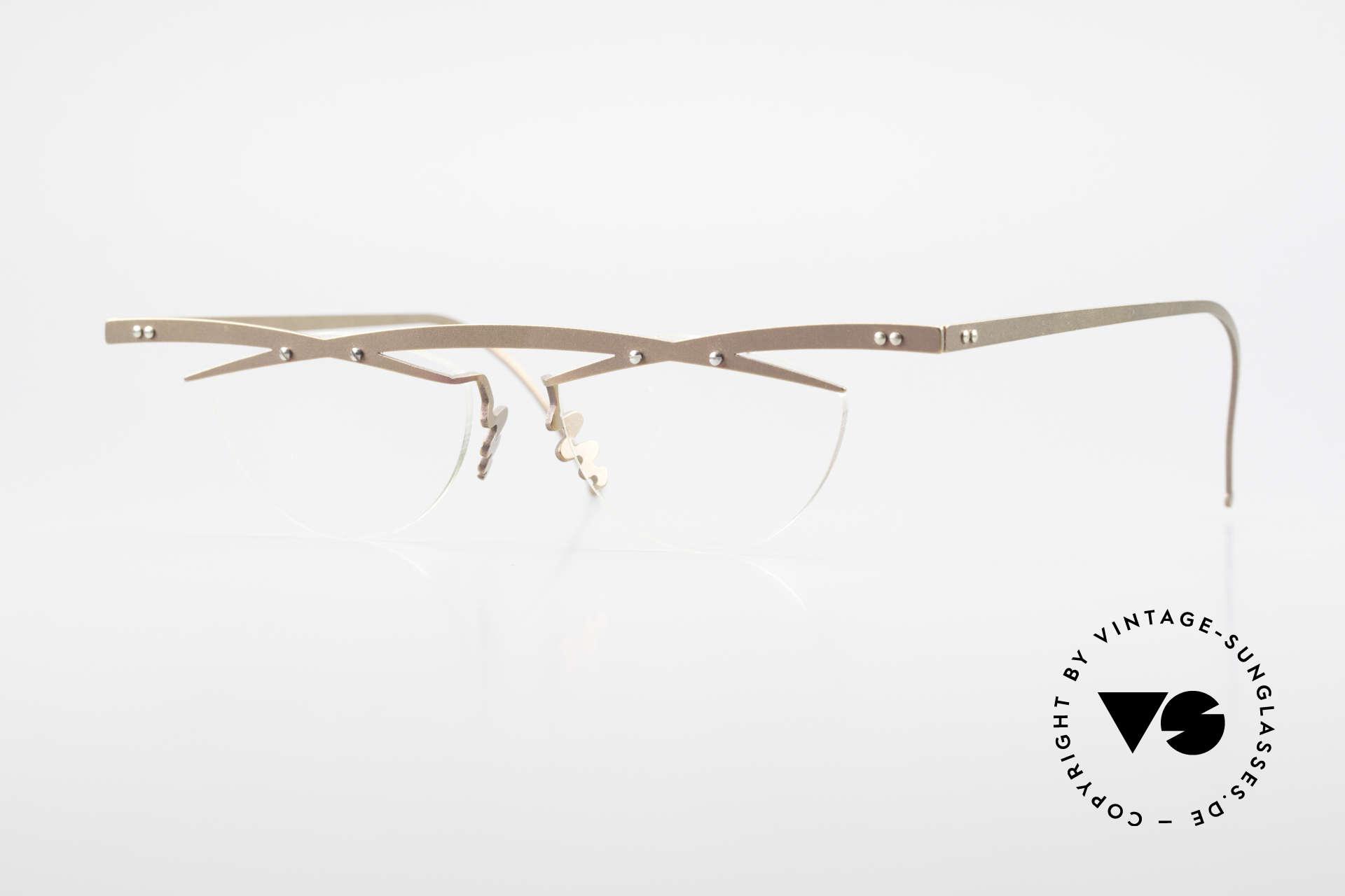 Theo Belgium Tita III 4 Crazy Vintage Brille XL 90er, Theo Belgium: die eigenwilligste Brillenmarke, weltweit, Passend für Herren und Damen