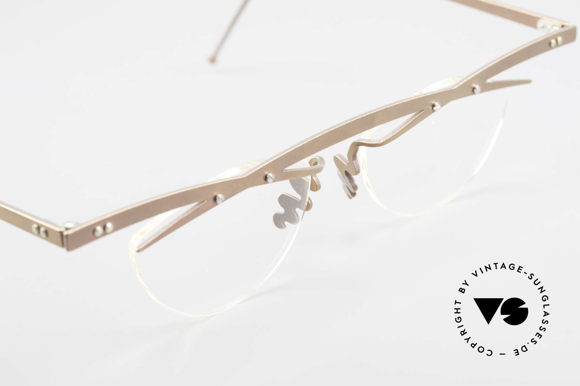 Theo Belgium Tita III 4 Crazy Vintage Brille XL 90er, ungetragenes Theo-Original und KEINE RETROBRILLE!, Passend für Herren und Damen