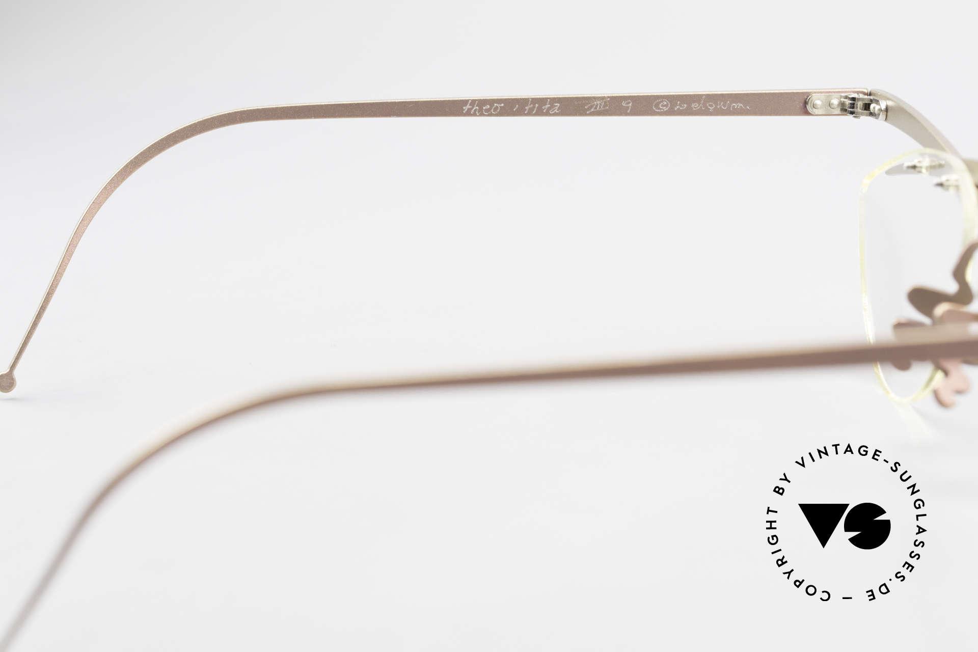 Theo Belgium Tita III 4 Crazy Vintage Brille XL 90er, Größe: extra large, Passend für Herren und Damen