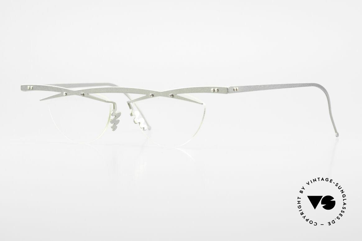 Theo Belgium Tita III 7 Crazy XL Vintage Brille 90er, Theo Belgium: die eigenwilligste Brillenmarke, weltweit, Passend für Herren und Damen
