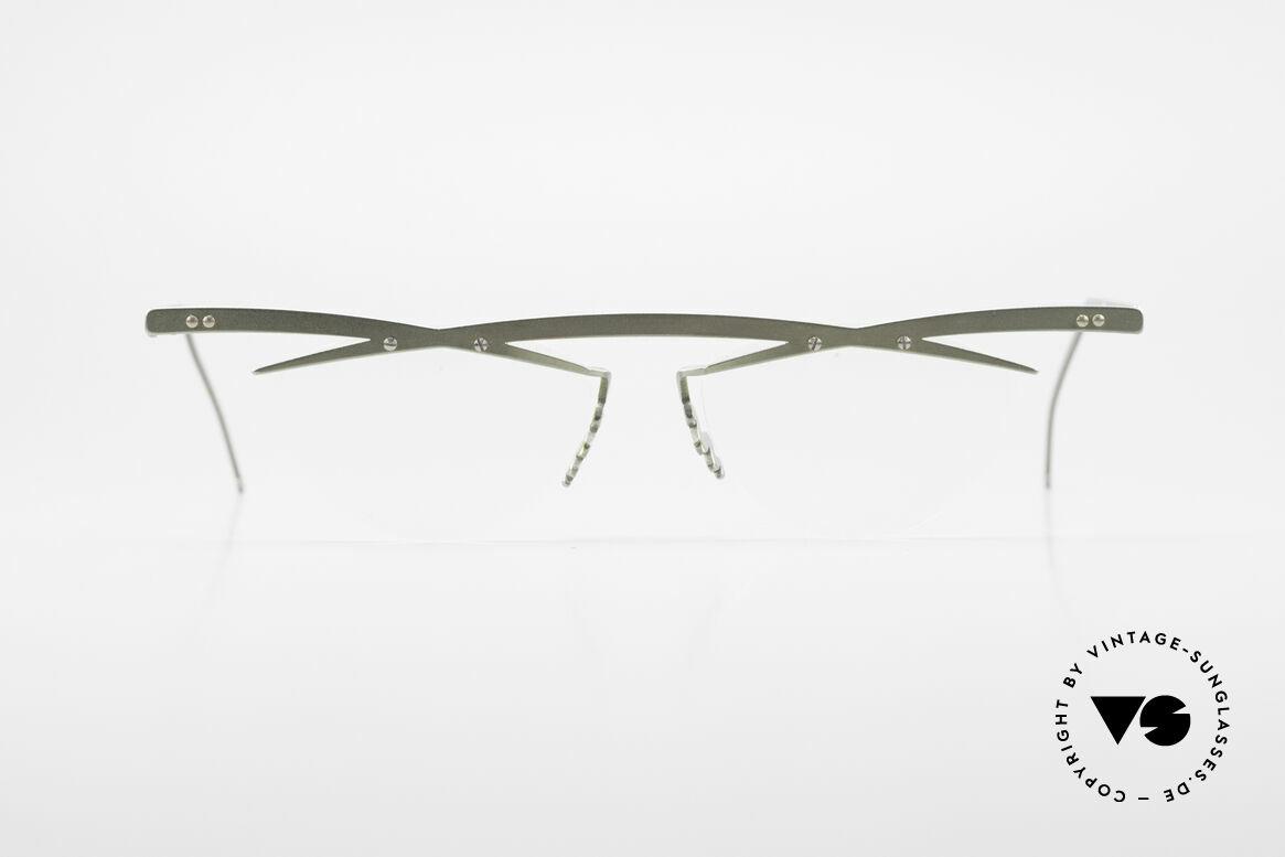 Theo Belgium Tita III 7 Crazy XL Vintage Brille 90er, in 1989 gegründet als 'ANTI MAINSTREAM' Brillenmode, Passend für Herren und Damen