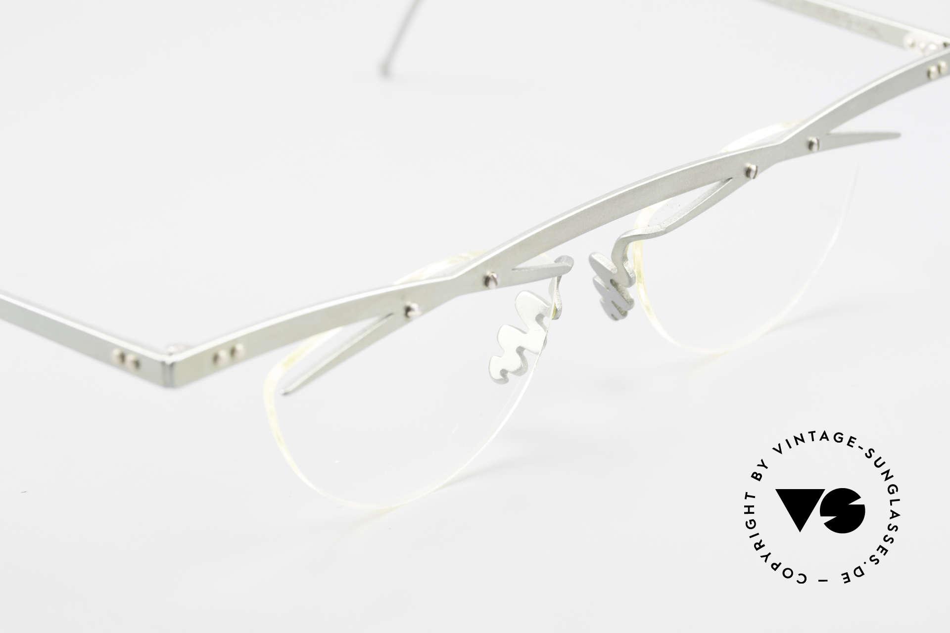 Theo Belgium Tita III 7 Crazy XL Vintage Brille 90er, ungetragenes Theo-Original und KEINE RETROBRILLE!, Passend für Herren und Damen