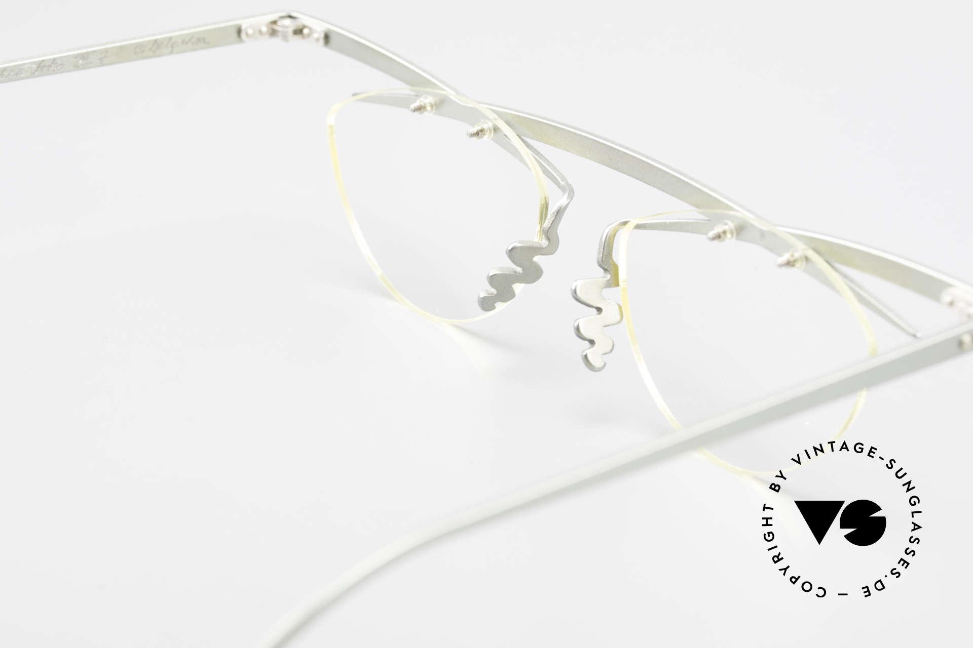 Theo Belgium Tita III 7 Crazy XL Vintage Brille 90er, die orig. Demo-Gläser können beliebig ersetzt werden, Passend für Herren und Damen