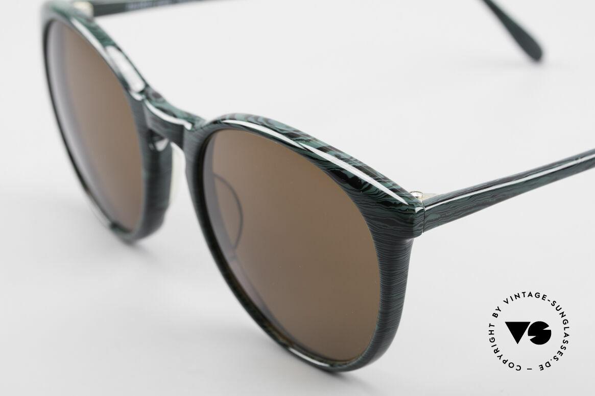 Alain Mikli 901 / 285 Panto Brille Grün Marmoriert, braune Gläser (100% UV); KLEINE Größe (123mm)!, Passend für Herren und Damen