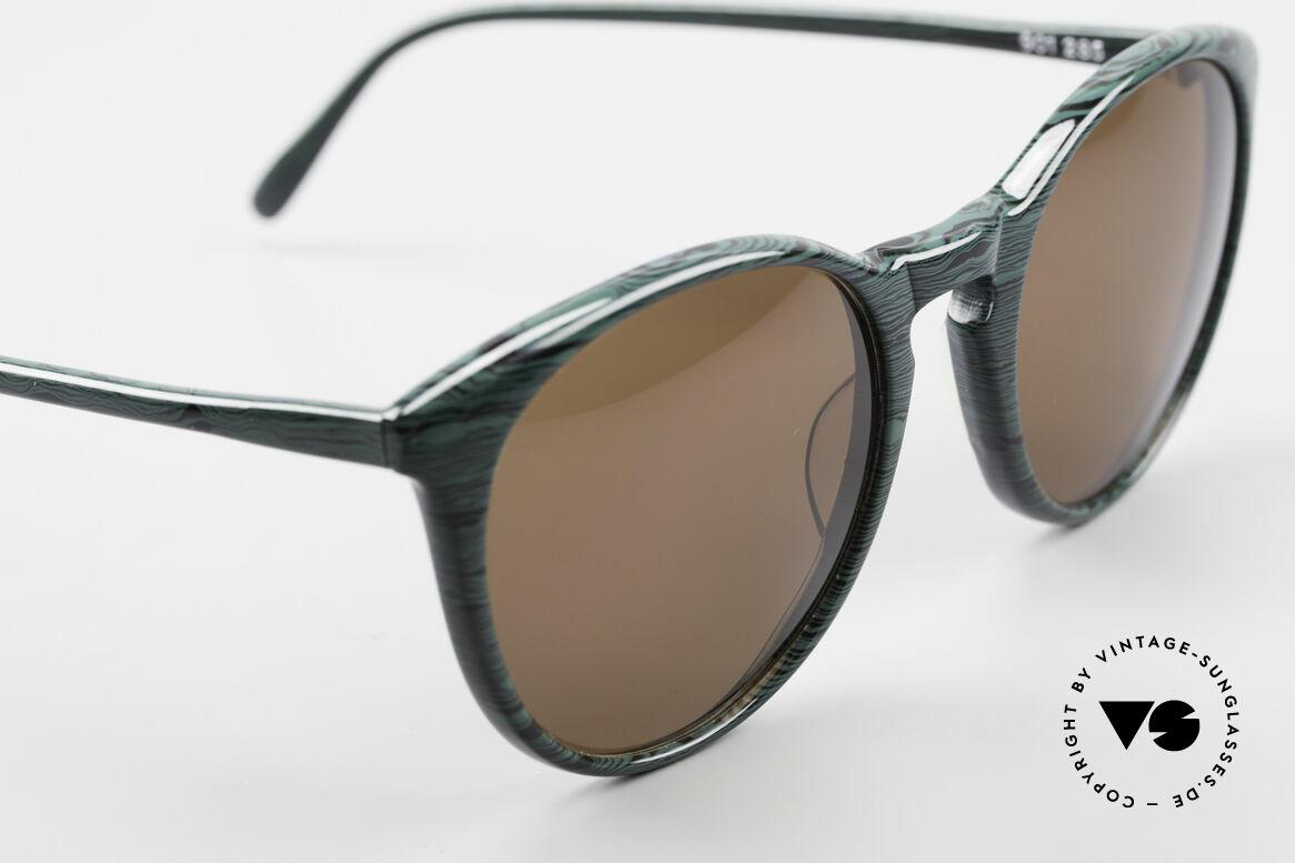 Alain Mikli 901 / 285 Panto Brille Grün Marmoriert, ungetragen (wie alle unsere 1980er vintage Brillen), Passend für Herren und Damen