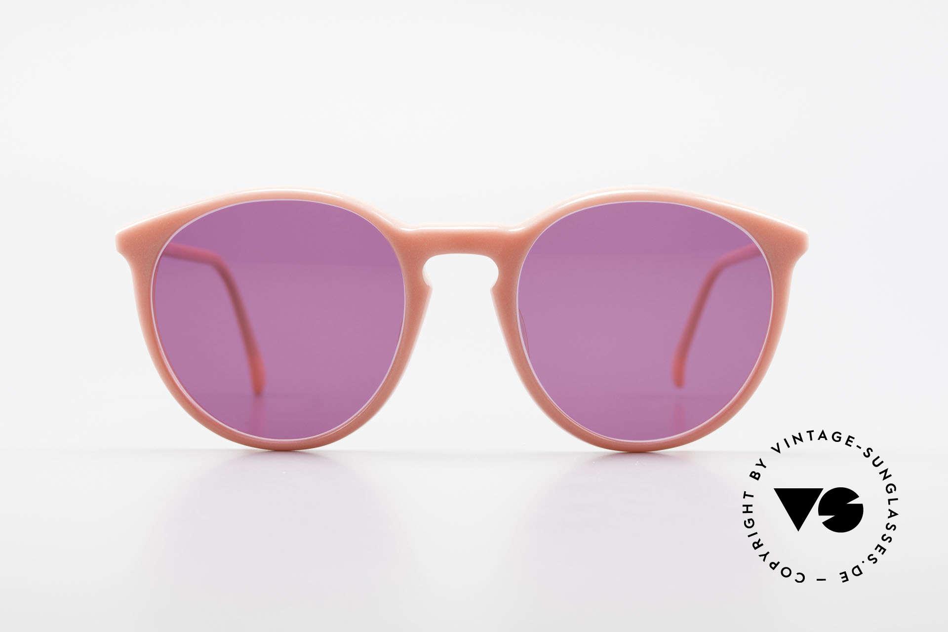 Alain Mikli 901 / 081 Panto Sonnenbrille Lila Pink, mehr 'klassisch' geht nicht (bekannte Panto-Form), Passend für Damen