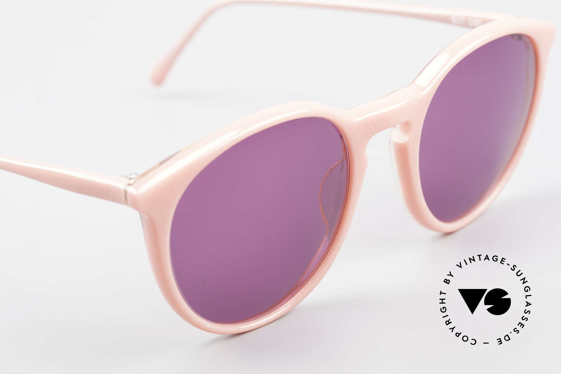 Alain Mikli 901 / 081 Panto Sonnenbrille Lila Pink, ungetragen (wie alle unsere 1980er vintage Brillen), Passend für Damen