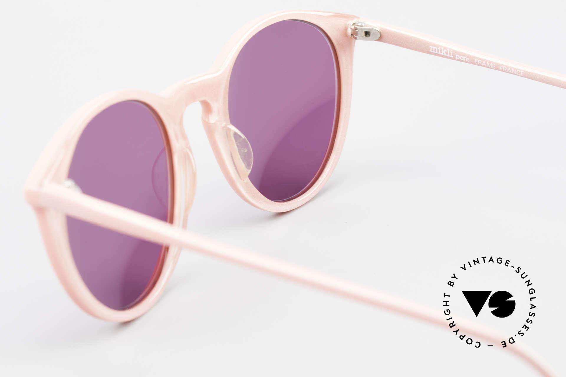 Alain Mikli 901 / 081 Panto Sonnenbrille Lila Pink, KEINE Retromode, sondern ein altes Mikli-Original, Passend für Damen