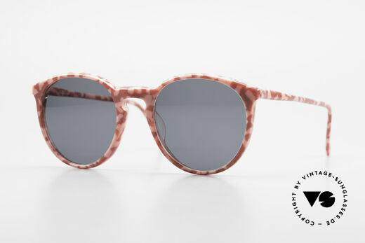 Alain Mikli 901 / 172 Panto Brille Rot Pink Marmor Details