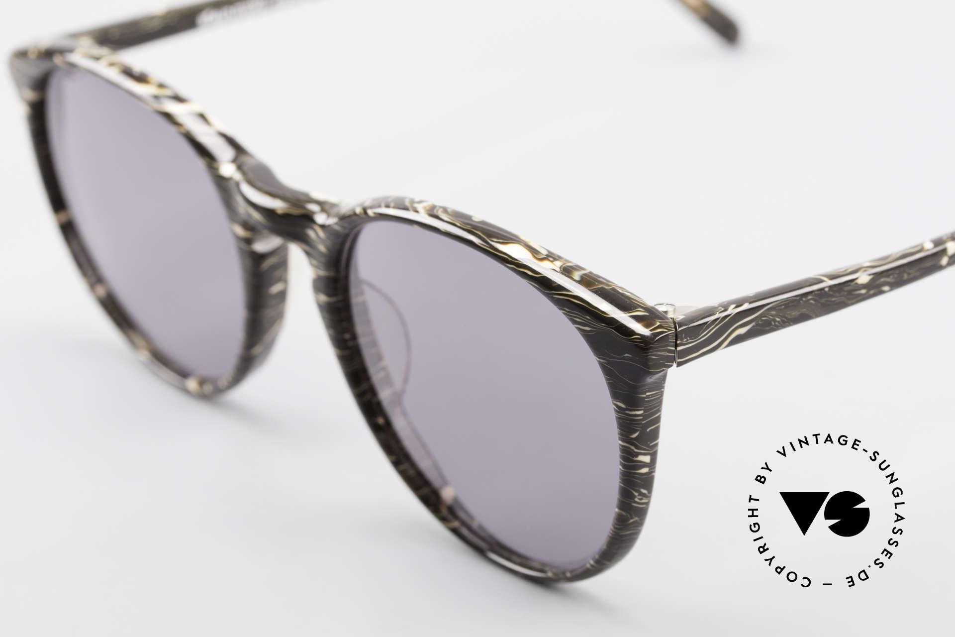 Alain Mikli 901 / 429 Panto Brille Braun Marmoriert, graue Gläser (100% UV); in SMALL Größe (123mm)!, Passend für Herren und Damen