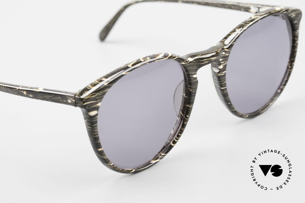 Alain Mikli 901 / 429 Panto Brille Braun Marmoriert, ungetragen (wie alle unsere 1980er vintage Brillen), Passend für Herren und Damen