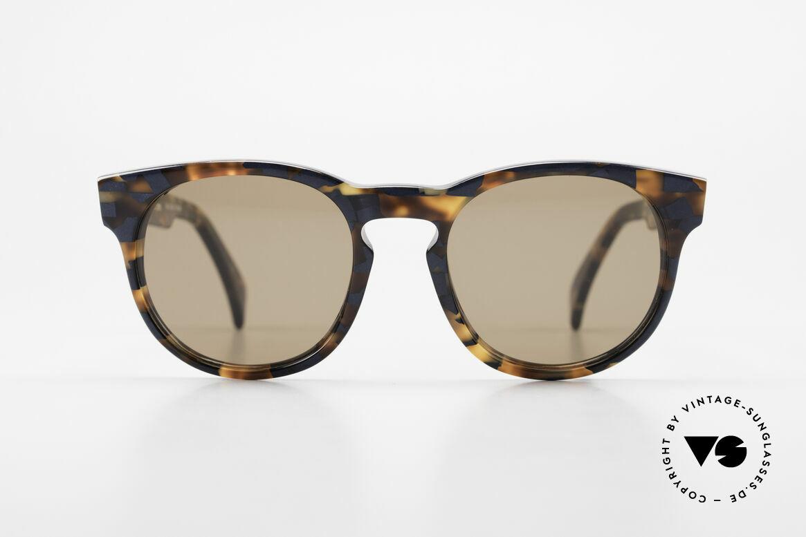 Alain Mikli 6903 / 622 XS Panto Brille Braun Marmor, mehr 'klassisch' geht nicht (bekannte Panto-Form), Passend für Herren und Damen