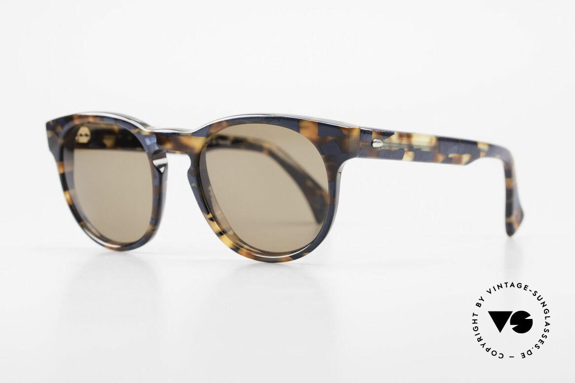 Alain Mikli 6903 / 622 XS Panto Brille Braun Marmor, im Stile der alten 'Tart Optical Arnel' aus den 60ern, Passend für Herren und Damen