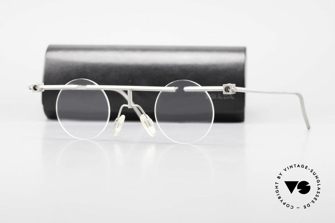 B. Angeletti Sammlerstück Bauhaus Brille Limited Edition, entsprechend nur 99 Stück weltweit; Original von 1993, Passend für Herren und Damen