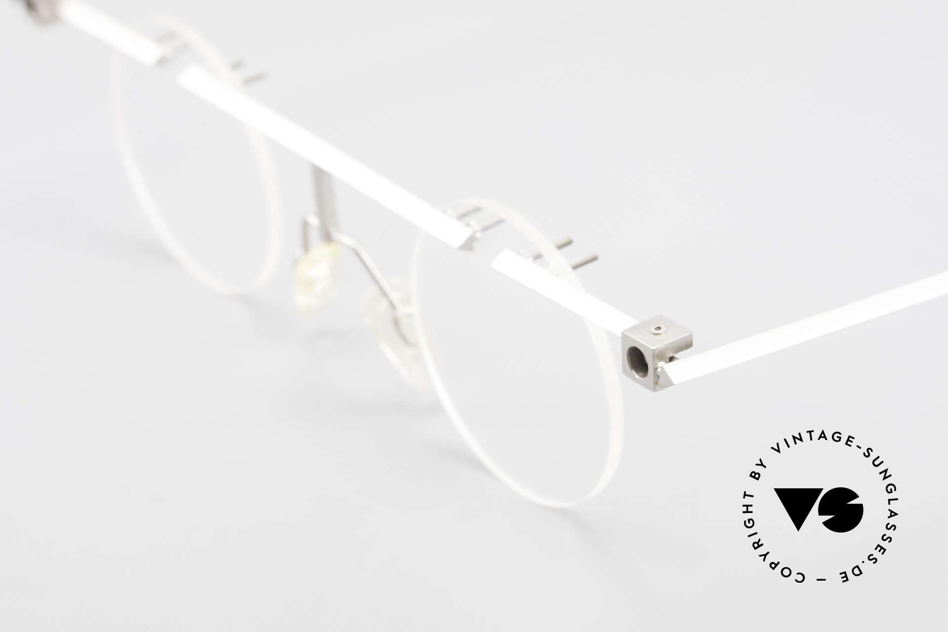 B. Angeletti Sammlerstück Bauhaus Brille Limited Edition, ungetragene 90er vintage Brille & KEINE RETROBRILLE, Passend für Herren und Damen